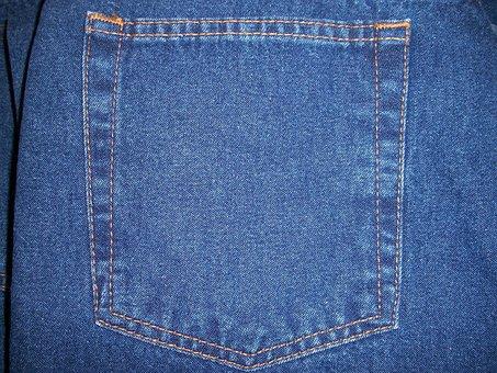 Jeans, Rear Pocket, Back Pocket, Blue Jeans, Denim