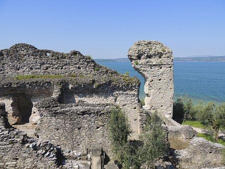 Ruin, Rock, Castle, Villa, Roman Times, Residence