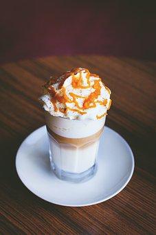 Caramel, Coffee, Cream, Creamy, Cup, Dairy Product