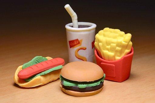 Chips, Fast Food, Food, Hamburger, Junk Food, Plastic