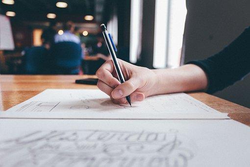 Art, Composition, Desk, Handwriting, Paper, Pencil