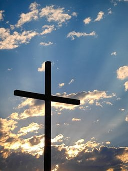 Christianity, Cross, Outdoors, Silhouette, Sky