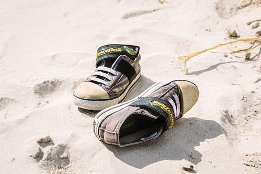 Shoes, Sneakers, Beach, Sand