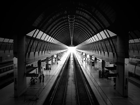 Architecture, Railroad, Railway, Station, Train Station
