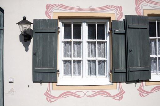 Art Nouveau, Window, Shutters, Architecture, Building