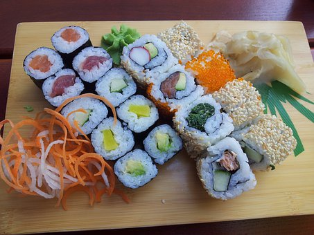 Sushi, Asia, Rice, Fish, Food, Sea