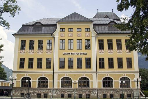 Johann Nestroy, Schule, Bad Ischl, Austria, Secondary
