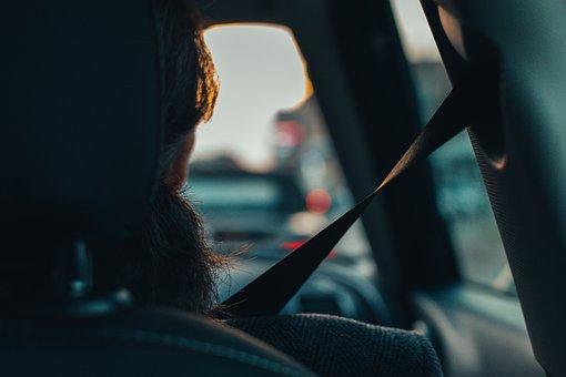 Car, Passenger, View, Backseat, Seatbelt, Automobile
