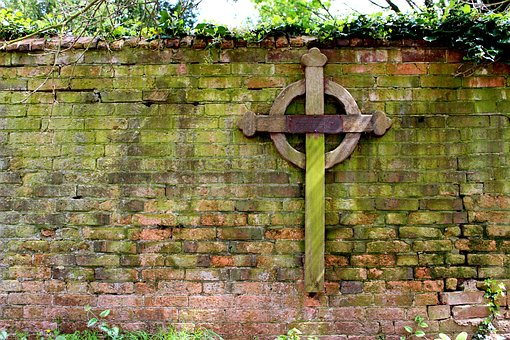Cross, Wall, Bricks, Church, Christianity, Sign, Symbol