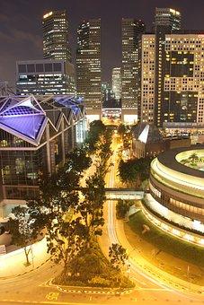 Night, Buil, City, Urban, Street, Architecture, Evening