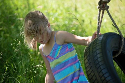 Person, Human, Child, Girl, Blond, Out, Nature, Play