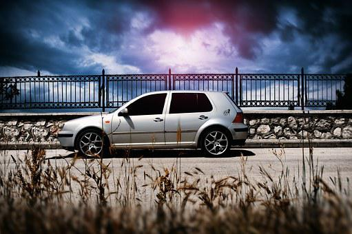 Car, Golf, Cloud, Passion, Speed, Autumn, Volkswaven
