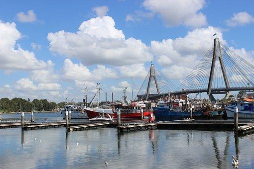 Bay, Cruise, Speed Boat, Pier, Sydney Fish Market