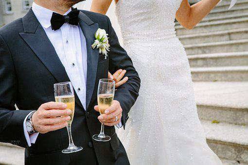 Bride, Ceremony, Champagne, Elegant, Formal, Groom