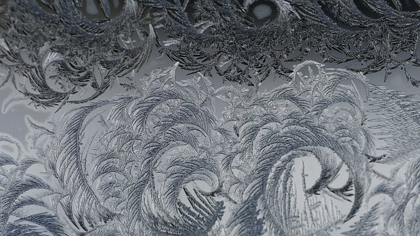 Abstract, Ice, Frost, Crystals, Frozen, Cold, Glass