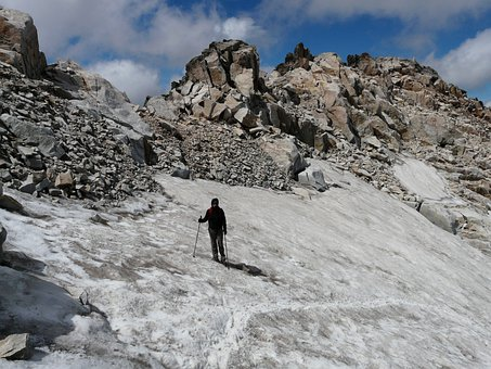 Eisfeld, Glacier, Person, Hooded, Cold, Mountaineer