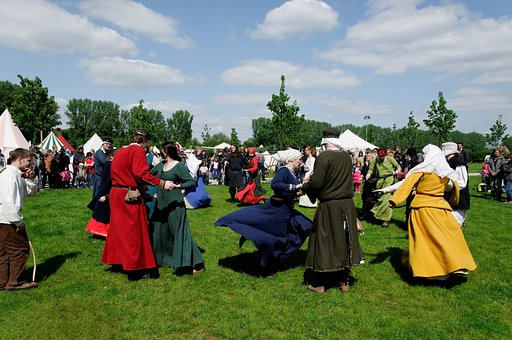 Medieval Market, Meadow, Dance, Garments, Costumes