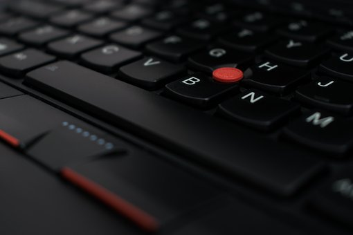 Laptop, Keyboard, Notebook, Trackpoint, Nub, Closeup