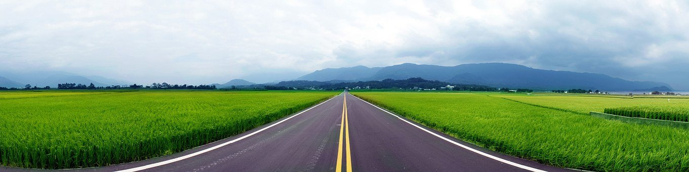 Green, Road, Taiwan, Landscape, Outdoor, Travel