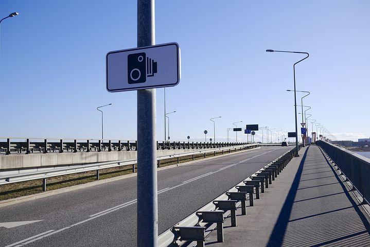 Bridge, Street Lamp, Speed Camera, Road Sign, Roadsign