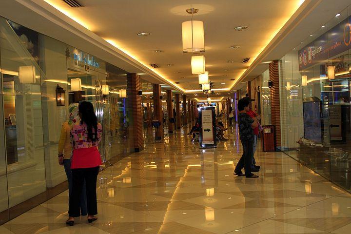 Mall Hallway, Mall, Shopping Mall, Shopping, Lights