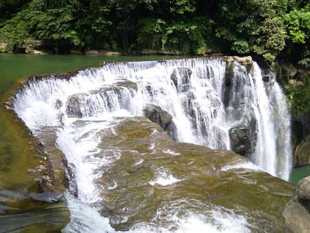 Waterfall, Shifen Waterfall, Falls, Taiwan, Pinghsi