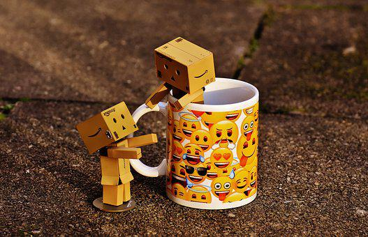 Danbo, Figures, Cup, Coffee Cup, Together, For Two