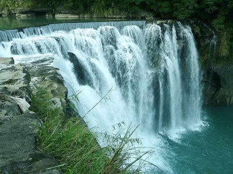 Greenery, Waterfall, Shifen Waterfall, Pingxi, Taiwan