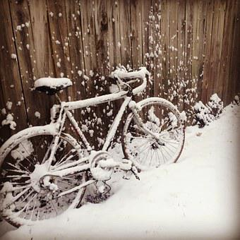 Bike, Snow, Fence, Winter, Bicycle, White, Wheel, Cold