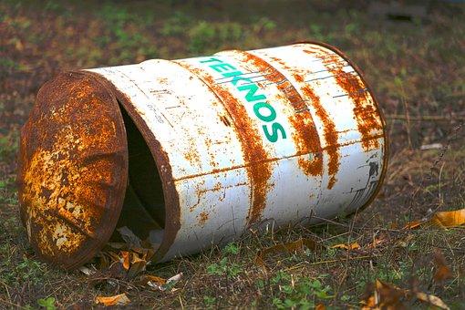 Rusty, Barrel, Rust, Abandoned