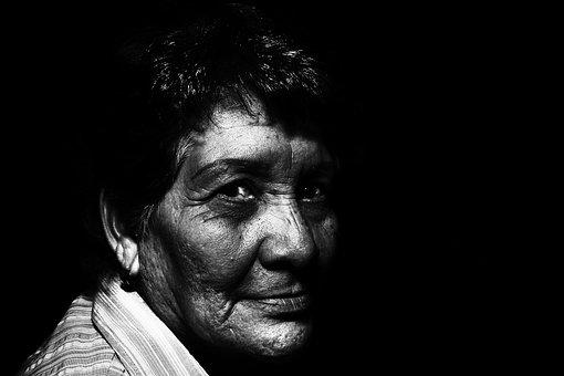 Adult, Aged, Blur, Close-up, Dark, Elderly, Face