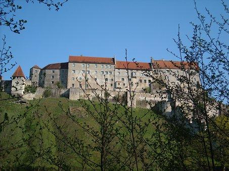 Castle, Burghausen, Longest Castle In Europe, Bavaria