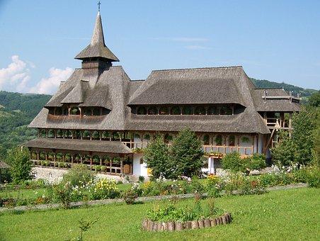 Romania, Barsana, Monastery, Bell Tower