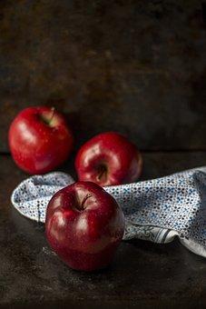 Apples, Blur, Close-up, Cloth, Confection, Delicious