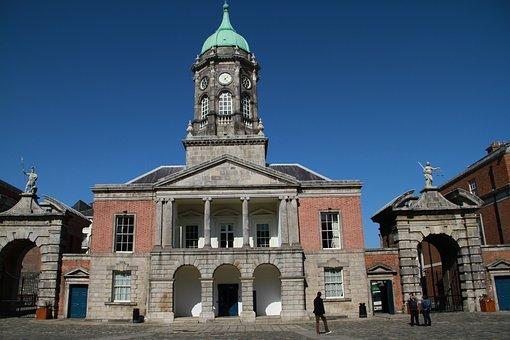 Dublin Castle, Castle, Landmark, Irish, Medieval