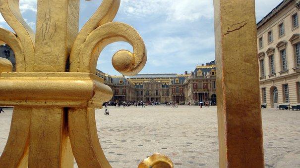 Gate, France, Tourism, Travel, Building, Golden, Palace