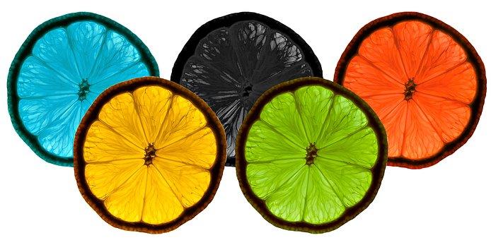 Black, Blue, Colorful, Food, Green, Lemons, Limes, Red