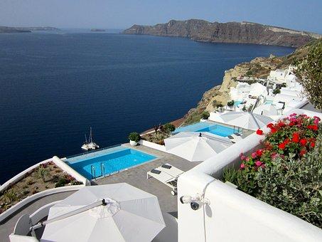 Santorini, Greece, Isl, Island, Sea, Vacation, Europe
