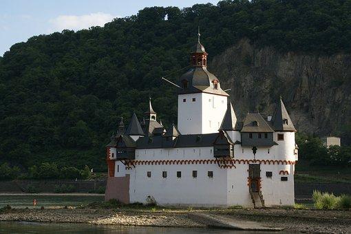 Castle Pfalzgrafenstein, Rhine, Kaub, River
