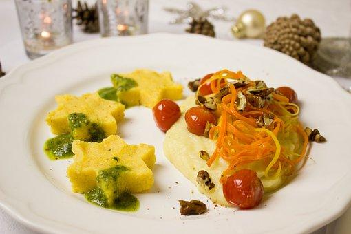 Main Course, Menu, Vegetables, Polenta, Corn, Semolina