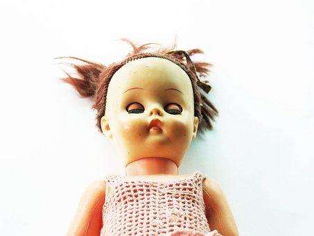 Box, Dolls, Dressed, Flea, Girls, Market, Old, Toy