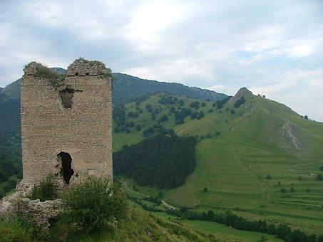 Transylvania, Rimetea, Castle Ruins, Nature, Forest
