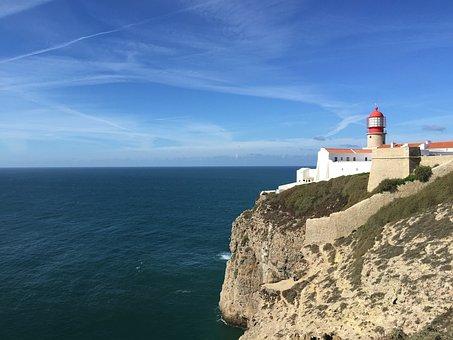 Portugal, Lighthouse, Sagres, Cabo De São Vicente