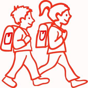 Children, School Children, Boy, Girl, Santiago