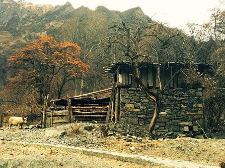 Tibetan Cabins, Shuangqiaogou, Siguniangshan