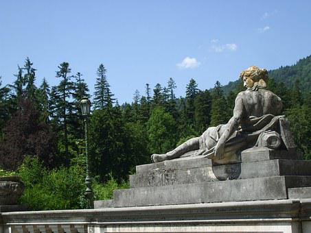 Statue, Sculpture, Sinaia, Romania, Historical
