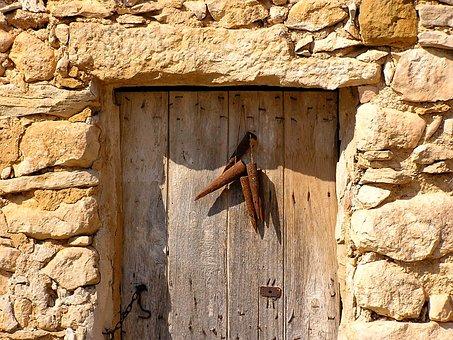 Door, Hut, Stall, Metal, Rusty, Holiday, Sun