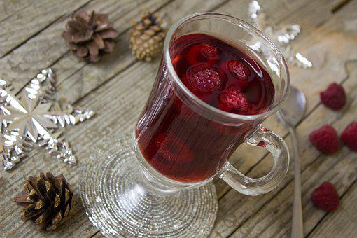 Punch, Tee, Alcohol Free, Raspberry, Christmas, Advent