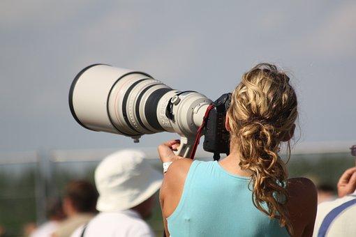 Photography, Telephoto Lens, Camera, Photographer