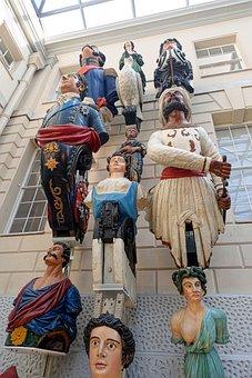 Figureheads, Nautical, Statues, Wooden, Weathered